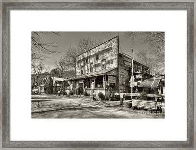 Once Upon A Story Sepia Tone Framed Print by Mel Steinhauer