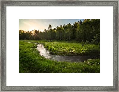 One Day Of Summer Framed Print by Tor-Ivar Naess