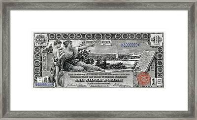 One Dollar Note - 1896 Educational Series  Framed Print by Serge Averbukh