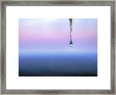 One Drop At A Time Framed Print by JC Findley