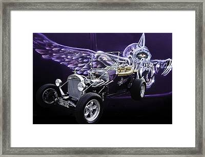 One Eyed One Horned Giant Purple People Eater Framed Print by Jim  Hatch