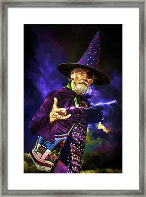 One Eyed Wizard Framed Print by John Haldane