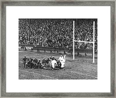 One For The Gipper Framed Print by Underwood Archives