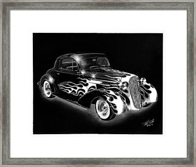 One Hot 1936 Chevrolet Coupe Framed Print by Peter Piatt