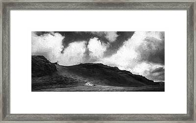 One House On The Hill II Framed Print by Jon Glaser