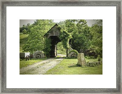 One Lane Covered Bridge Framed Print by Phyllis Taylor