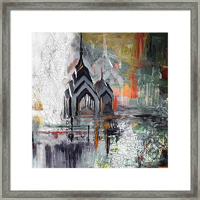 One Liberty Place And Two Liberty Place 229 3 Framed Print by Mawra Tahreem