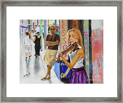 One Man Show Framed Print by Judy Kay