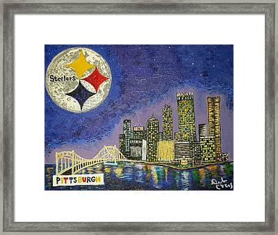 One Night In Pittsburgh Framed Print by Deborah Evers