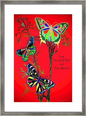 One Of A Kind Framed Print by Joyce Dickens
