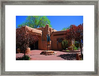 One Of The Many Art Galleries In Santa Fe Framed Print by Susanne Van Hulst