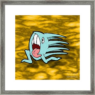 One Of Those Days Framed Print by Uncle J's Monsters
