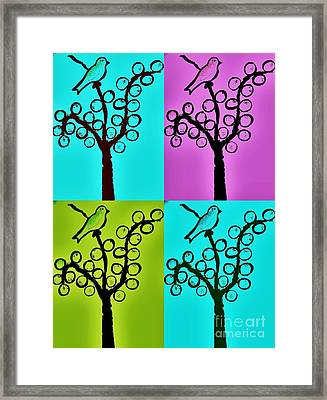 One Or Four Birds By Jasna Gopic Framed Print by Jasna Gopic