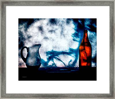 One Red Bottle Framed Print by Bob Orsillo