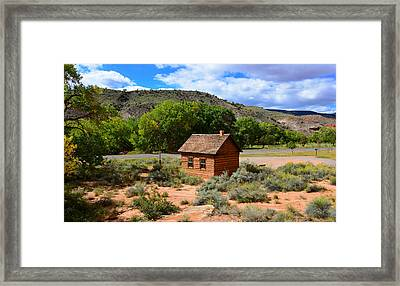 One Room School House  Framed Print by David Lee Thompson