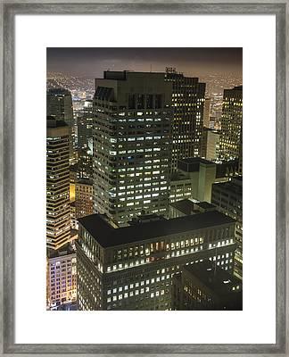 One Sansome Street - Citigroup Center In San Francisco Framed Print by David Oppenheimer
