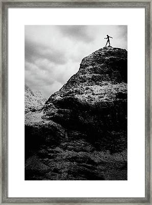 One Step Framed Print by Cambion Art