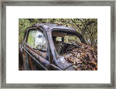 One With Nature Framed Print by Debra and Dave Vanderlaan