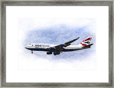 One World Boeing 747 Art Framed Print by David Pyatt