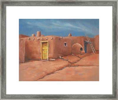 One Yellow Door Framed Print by Jerry McElroy