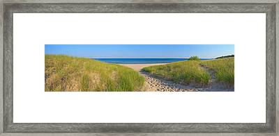 Onekama Michigan Beach Framed Print by Twenty Two North Photography