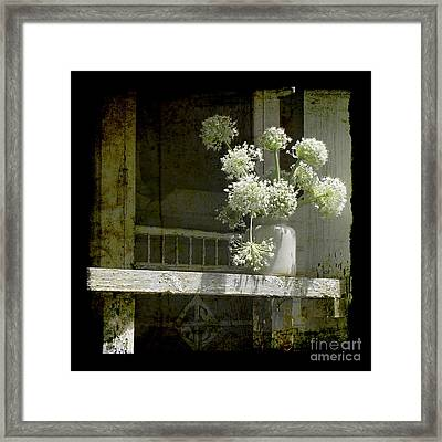 Onion Blooms Framed Print by Sari Sauls