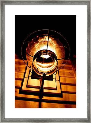 Onion Lamp At Night Framed Print by Robert Morin