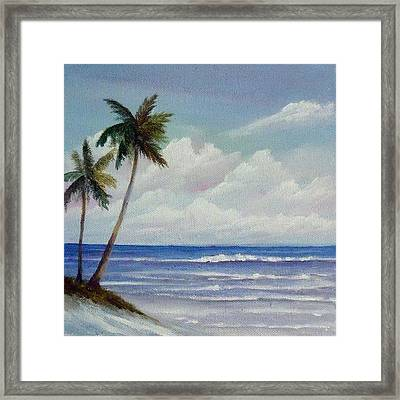 Only In Miami Beach Framed Print by Rosie Brown