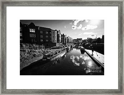 oozells street loop area birmingham canal navigations brindleys old main line Birmingham UK Framed Print by Joe Fox