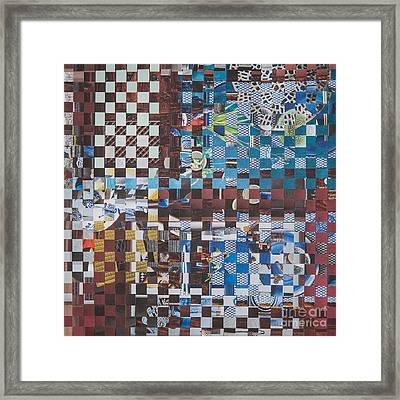 Op Art 102 Framed Print by Jan Bickerton