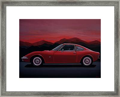 Opel Gt 1969 Painting Framed Print by Paul Meijering