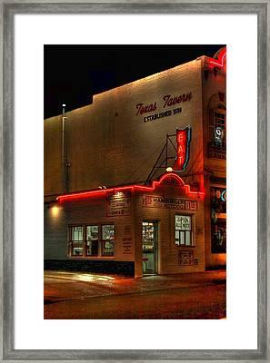 Open All Nite-texas Tavern Framed Print by Dan Stone