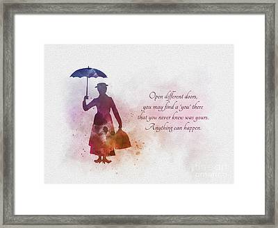Open Different Doors Framed Print by Rebecca Jenkins