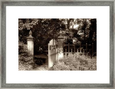 Open Invitation Framed Print by Tom Mc Nemar