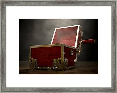 Open Jack-in-the-box Antique Framed Print by Allan Swart