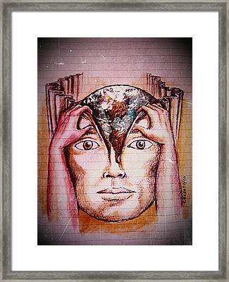 Open Mind For A New World Framed Print by Paulo Zerbato