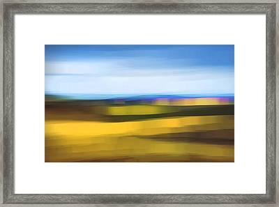 Open Range At Sundown Abstract Framed Print by Theresa Tahara