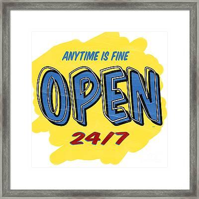 Open Sign Framed Print by Edward Fielding