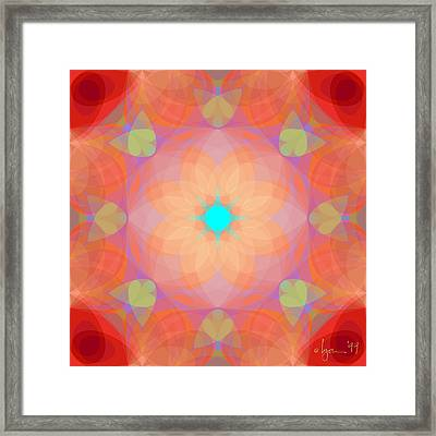 Opening Framed Print by Angela Treat Lyon