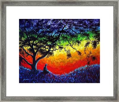 Opening The Chakras Meditation Framed Print by Laura Iverson