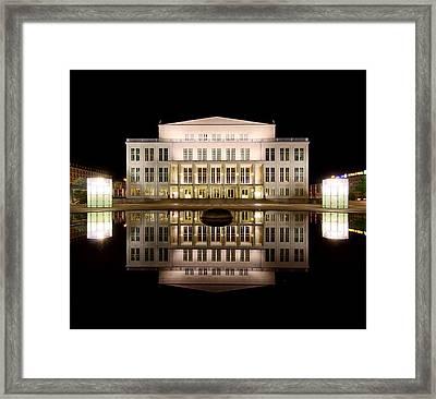 Opera - Leipzig Framed Print by Marc Huebner