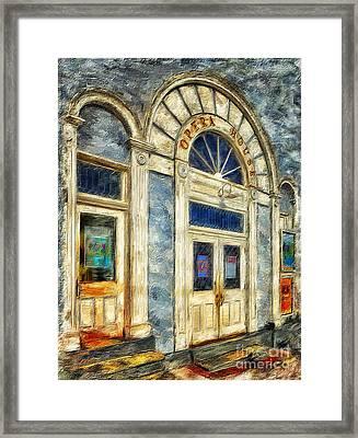 Opera House At Shepherdstown Framed Print by Lois Bryan