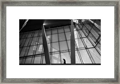 Opera House - Oslo, Norway - Black And White Street Photography Framed Print by Giuseppe Milo