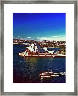 Opera House Sydney Austalia Framed Print by Gary Wonning