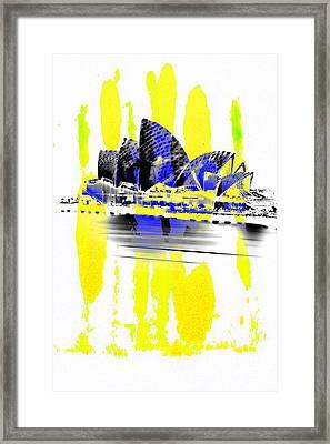 Operatic Strokes Framed Print by Az Jackson