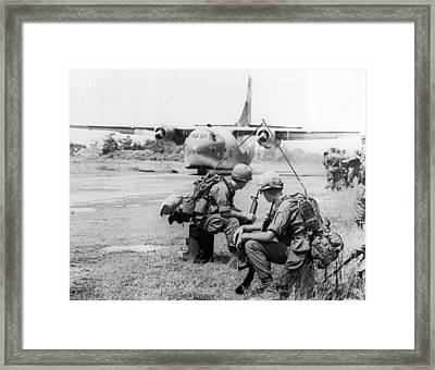 Operation Attleboro Airlift Framed Print by Underwood Archives