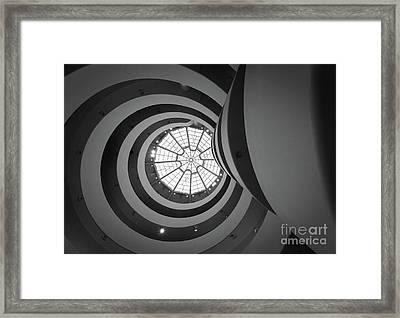 Opposing Circles Framed Print by Inge Johnsson