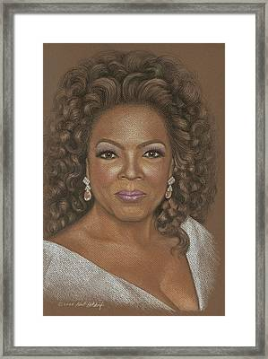 Oprah Framed Print by Kurt Holdorf