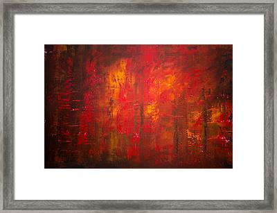 Opt.47.15 Forest Fire Framed Print by Derek Kaplan