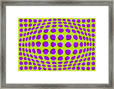 Optical Illusion The Ball Framed Print by Sumit Mehndiratta
